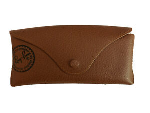 Ray-Ban Sunglasses Case Eyeglasses Soft Leather Brown Case