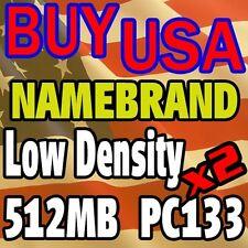 1GB KIT 512 512MB X 2 PC133 133 LOW DENSITY RAM MEMORY