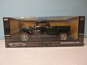 New Collectible 1:18 Scale BLACK & SILVER 2004 HUMMER H3T By HOT WHEELS