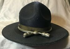 "State Trooper Hat Stratton Straw Style ""The Lawman"" Navy Size 7 56"