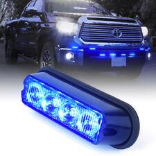 Blue Vehicle LED Grille Side Marker Emergency Strobe Deck Dash Warning Light 1Pc