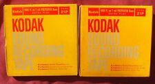 Kodak Vtg Reel to Reel Sound Recording Tapes Lot of 2 - Type 21P - 1800 Ft