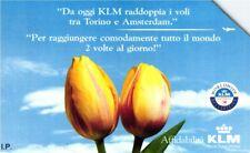 *G 518 C&C 2559 SCHEDA TELEFONICA USATA KLM TORINO AMSTERDAM