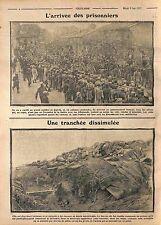 Prisonniers Feldgrauen Deutsches Heer /Poilus Tranchées Sables Verdun WWI 1915