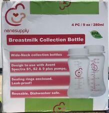 NeneSupply Breastmilk Collection Bottle 4 Pcs 9 0z/280ml Leak Proof New