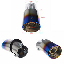 Universal Bent Round Stainless Steel Auto Exhaust Pipe Muffler Tip End Trim 62mm