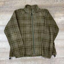 Columbia Women's Green Plaid Full Zip Fleece Jacket - Size XL