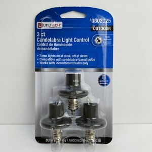 Utilitech Candelabra Automatic Dusk to Dawn Light Control Black 3Pack #0302325