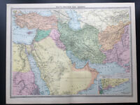 Antique Map Of Asia Arabia Persia Afghanistan  1926