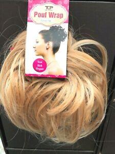 Hair Scrunchie Wrap Golden Blonde Mix Large Messy Scrunchie Bun Hairpiece BR40