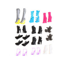 10pairs Fashion Accessories Boots Heel Shoes Sandals For Doll F&F