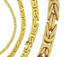 Königskette Gold doublé o. vergoldet Halskette Goldkette ab Fabrik Italien