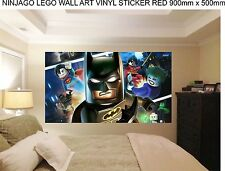 LEGO BATMAN   WALL ART 100cm wide childrens bedroom wall art stickers.