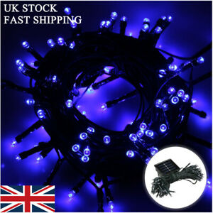 Blue 100-500 LEDs Weatherproof Solar Powered Fairy String Lights Christmas Party