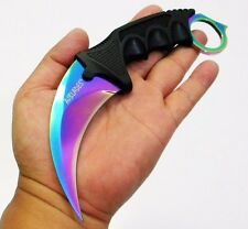 2Pc - KARAMBIT NECKLACE SURVIVAL HUNTING KNIFE TITANIUM BLADE [9508]