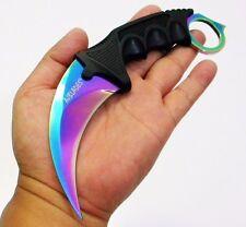 2Pc - KARAMBIT NECKLACE SURVIVAL HUNTING KNIFE TITANIUM BLADE [9508]