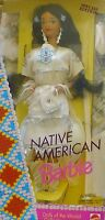 NATIVE AMERICAN BARBIE DOLLS OF THE WORLD DOTW 1992 sqwa INDIANERIN #1753   NRFB