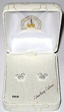 Disney Mickey Mouse Icon CZ Earrings in 925 Sterling silver New in Box