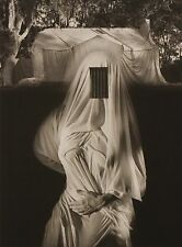 Jerry Uelsmann Rare Original Large Platinum Photograph 1991 Draped Nude 16 of 25