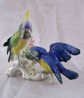 Ens Figur Große Kakadu Gruppe Papagei Figurine Figure Mühlenmarke Porzellanfigur