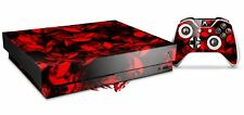 Skin Set for XBOX One X Skulls Confetti Red