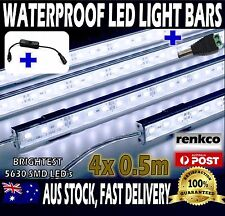 4X12V Waterproof Cool White 5630 Led Strip Lights Bars For Car Camping + On/Off
