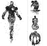 Marvel DC Canvas Wall Art White And Black Picture Avengers superhero home decor