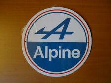 PB42F PLAQUE PUBLICITAIRE tolée age d'or Automobile : ALPINE 21cm