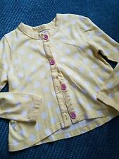 5-6 years girl yellow spotted cardigan jumper bolero sweater from ladybird