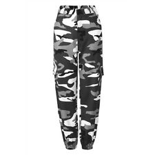 Womens Camouflage Camo Cargo Trousers Casual Pants Ladies Military Army Combat