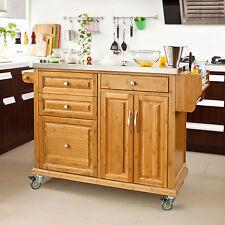 SoBuy® Large Kitchen Island Unit,Kitchen Storage Trolley Cart,FKW14-N,UK