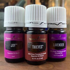 Joy, Thieves & Lavender 5ml. THREE Young Living Essential Oils