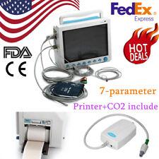 Co2 Icu Patient Monitor Capnograph Printer Multiparameter Vital Signs 121 Ccu