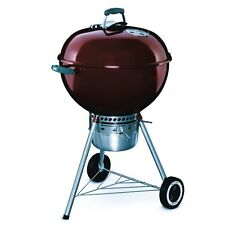 "Weber 14403001 Original Crimson 22"" Premium Kettle Charcoal Grill"