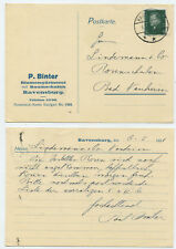 53231-tarjeta postal-p. Binter Blumengärtnerei-Ravensburg 6.5.1931