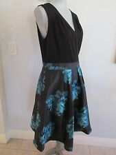 NWT SLNY SIZE 12 BLACK/TEAL SLEEVELESS COCKTAIL PARTY DRESS MSRP $110.00