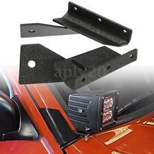 2x Windshield 4'' LED Work Light Mounting Bracket For Jeep Cherokee XJ A-Pillar