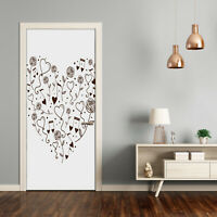 Self adhesive Door Wall wrap removable Peel & Stick Decal Teens Heart