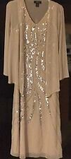 LARGE Swirl Beaded & Sequin Sleeveless Dress & Matching Jacket NEW with tags!