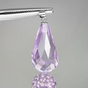 925 Sterling Silver Pendant Rose De France 5.50cts Natural Amethyst Gemstones