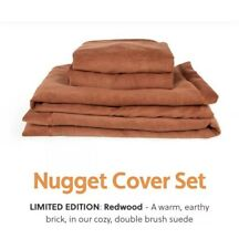 In Hand Nugget Cover Set Comfort Kids Couch LIMITED EDITION REDWOOD BRAND NEW