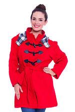 Damen Jackett Mädchen Coat Duffle Toggle Wärm Übergröße Military Nouvelle