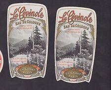Ancienne étiquette Parfum eau de cologne  BN22785 La Cévènole France
