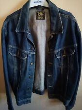 Vintage Lee Riders Patd 153438 Mens Blue Denim Jean Jacket
