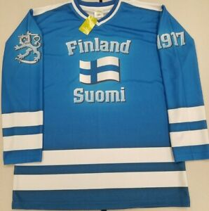 Brand New Finland / Suomi Hockey Jersey With Tags Plus FREE Shipping!!!