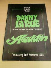 More details for danny la rue billy pearce ken platt blackpool aladdin pantomime program 1988