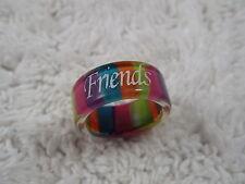 FRIENDS Rainbow Acrylic Band Ring -Size 8 (C41)