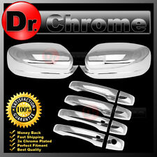 11-15 CHRYSLER 300 Triple Chrome Full Mirror+4 Door Handle+Smart Hole Cover