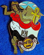 SHARM EL SHEIKH EGYPT LANDMARK FLAG GIRL PYRAMIDS AHKH Hard Rock Cafe PIN LE100