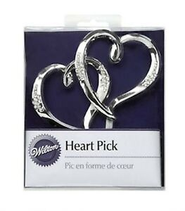 Double Heart Cake Pick from Wilton 985 NEW
